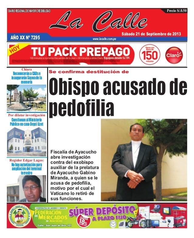 La Calle DIARIOREGIONALDEMAYORCREDIBILIDAD Sábado 21 de Septiembre de 2013 www.lacalle.com.pe Precio S/.0.50 Se confirma d...