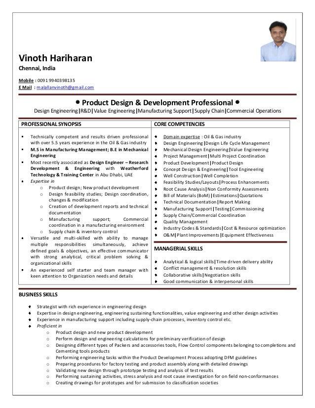Vinoth Hariharan Chennai, India Mobile : 0091 9940398135 E Mail : malallanvinoth@gmail.com  Product Design & Development ...