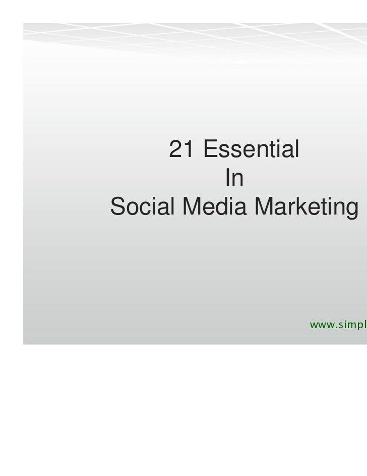 21 Essential          InSocial Media Marketing                 www.simplymyservices.in