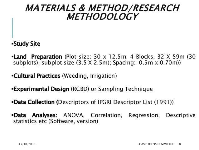 MATERIALS & METHOD/RESEARCH METHODOLOGY Study Site Land Preparation (Plot size: 30 x 12.5m; 4 Blocks, 32 X 59m (30 subpl...