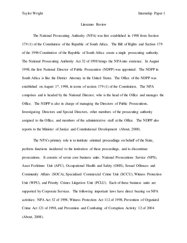 literature review of npa As follows this literature review will examine research, studies, reports,  •the  approach taken is relevant and of assistance in the context of the npa and the.