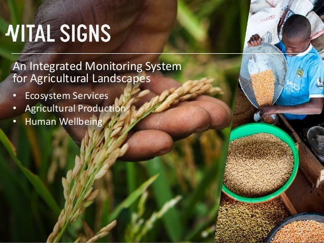 An Integrated Monitoring Systemfor Agricultural Landscapes• Ecosystem Services• Agricultural Production• Human Wellbeing