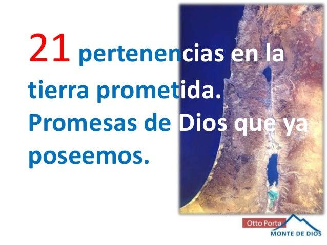 21 pertenencias en latierra prometida.Promesas de Dios que yaposeemos.
