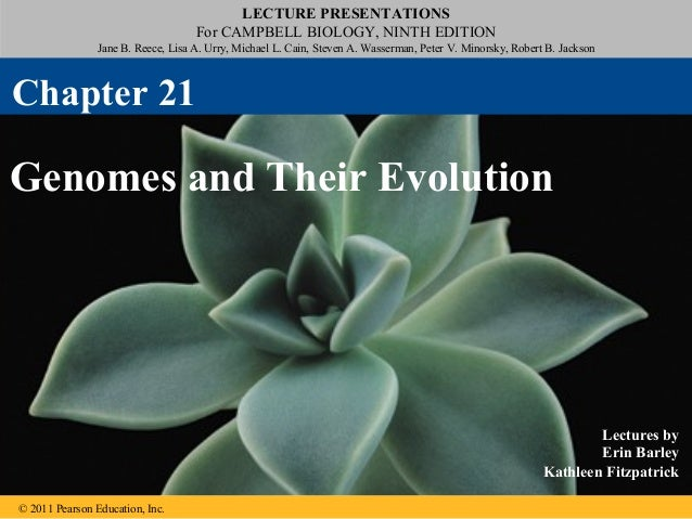 LECTURE PRESENTATIONSFor CAMPBELL BIOLOGY, NINTH EDITIONJane B. Reece, Lisa A. Urry, Michael L. Cain, Steven A. Wasserman,...