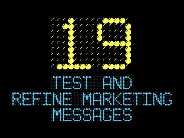 19    TEST andrefine marketing    messages