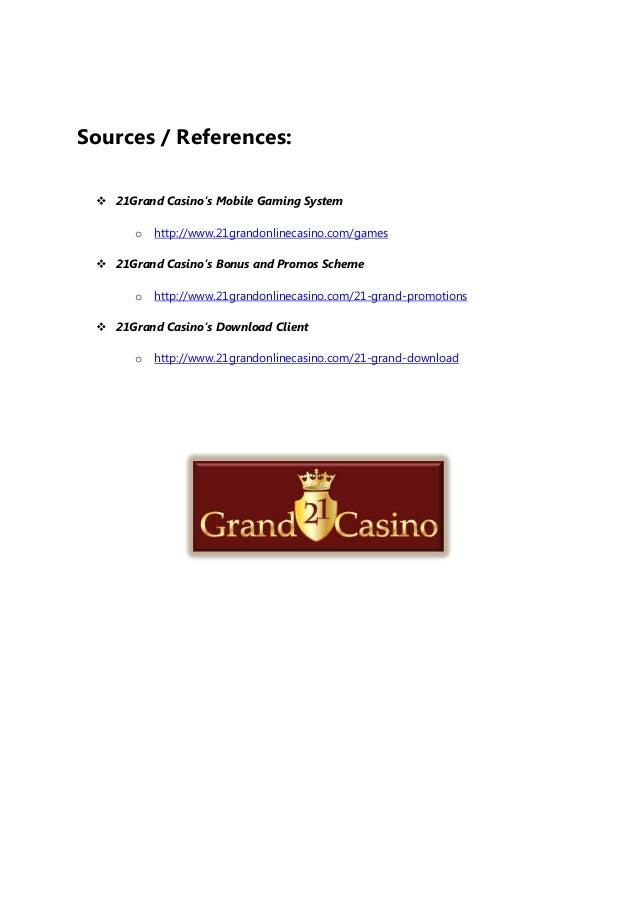 21grand Casino Where Grand Fortunes Begin