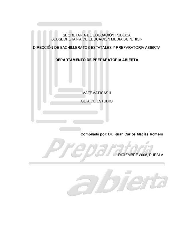 SECRETARIA DE EDUCACIÓN PÚBLICA SUBSECRETARIA DE EDUCACIÓN MEDIA SUPERIOR DIRECCIÓN DE BACHILLERATOS ESTATALES Y PREPARATO...