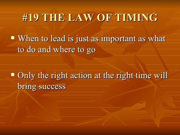 21 Irrefutable Laws Of Leadership John C Maxwell