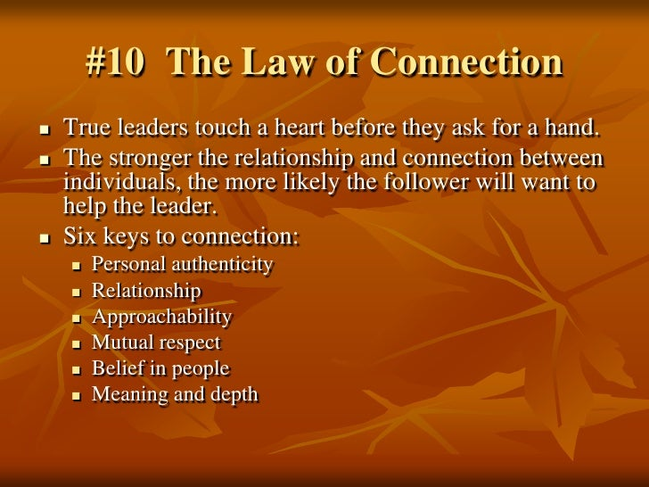 the 21 irrefutable laws of john The 21 irrefutable laws of leadership: follow them and people will follow you john c maxwell harpercollins leadership , sep 16, 2007 - business & economics - 336 pages.