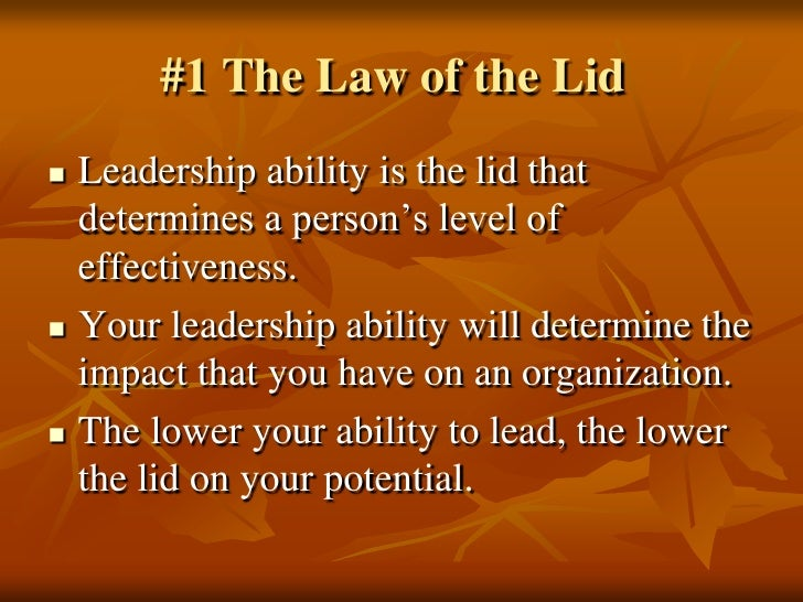 The 21 Irrefutable Laws Of Leadership Aprildearest