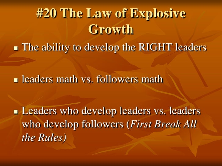 21 Rules Of Success: 21 Irrefutable Laws Of Leadership John C Maxwell