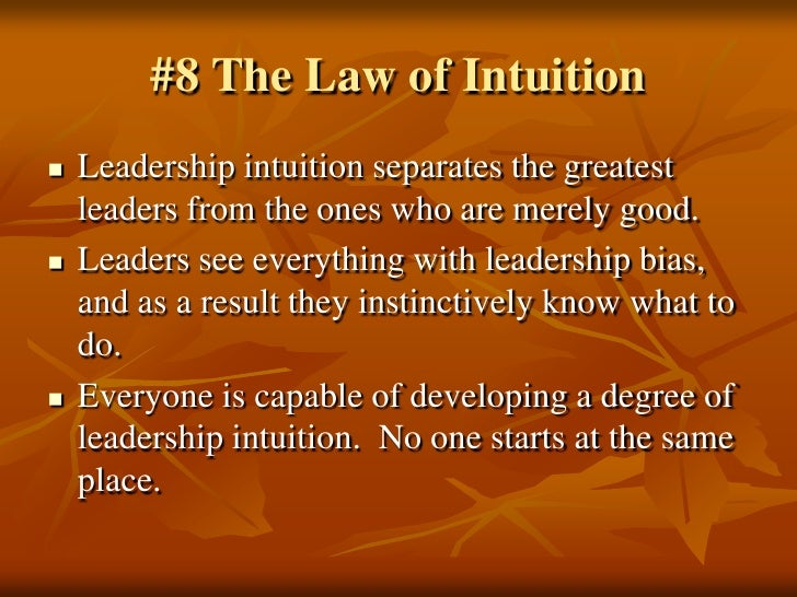"21 laws of leadership John c maxwell's ""the 21 irrefutable laws of leadership"" illustrates the many  facets that together constitute good leadership by using."