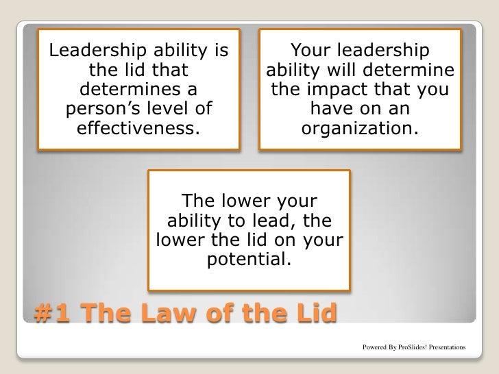 john maxwells 21 irrefutable laws of leadership intellectual ferret