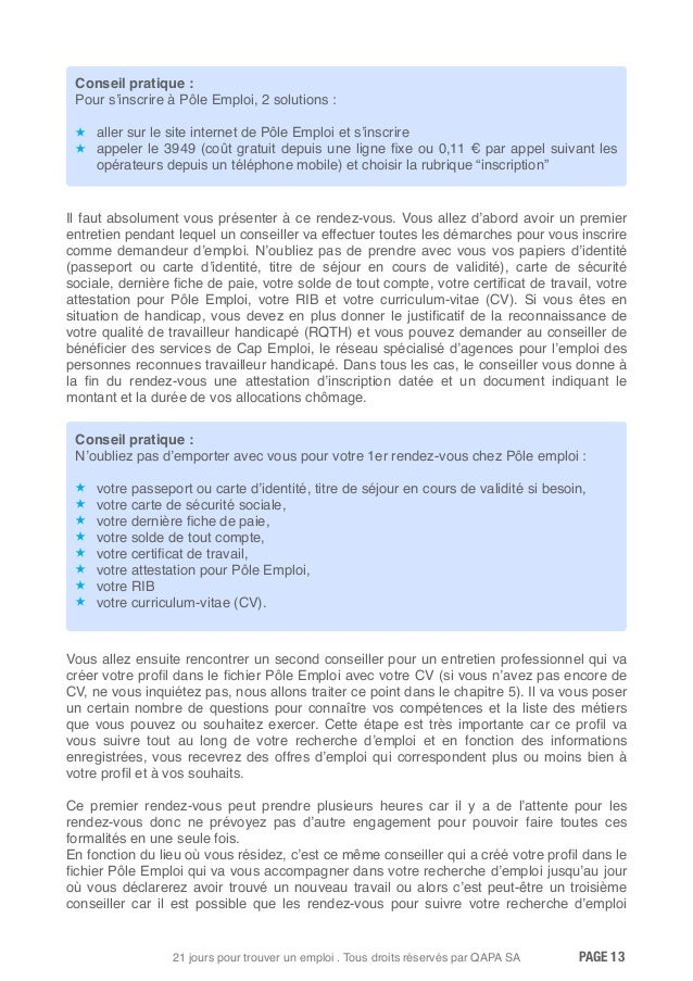 pole emploi  attestation de non inscription pole emploi