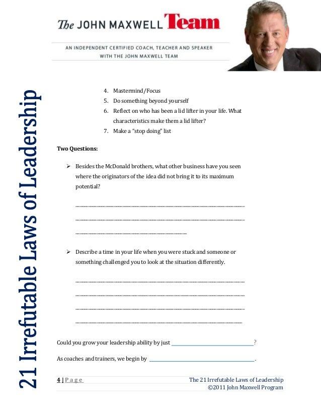 Worksheets Leadership Worksheets 21 laws worksheet 1 2 3 blank