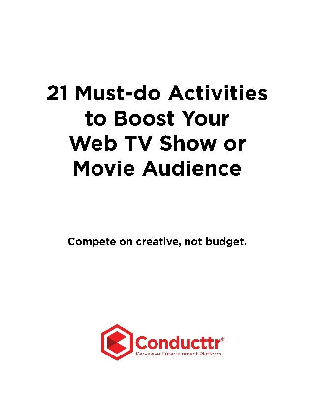 Created by the team at Conducttr, the integrated storytelling, gaming and marketing platform for content creators. You can...