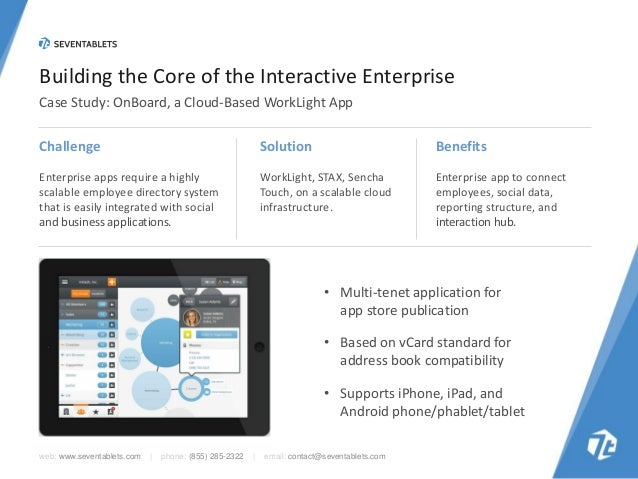 Building the Core of the Interactive Enterprise Case Study: OnBoard, a Cloud-Based WorkLight App Challenge  Solution  Bene...