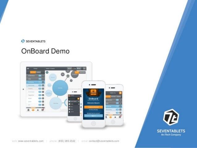 OnBoard Demo  web: www.seventablets.com     phone: (855) 285-2322     email: contact@seventablets.com