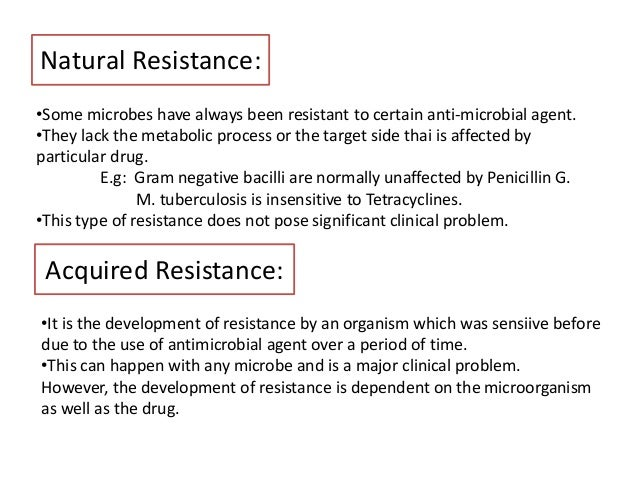 MECHANISMS FOR ACQUIRING RESISTANCE 69
