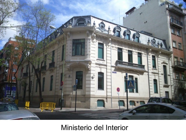 Palacetes del ensanche de madrid for Direccion ministerio del interior madrid