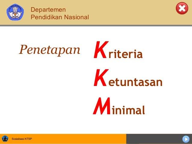 Departemen               Pendidikan Nasional     Penetapan                       Kriteria                                 ...