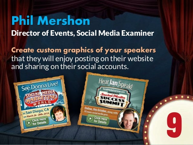 Phil Mershon Create custom graphics of your speakers that they will enjoy posting on their website and sharing on their so...