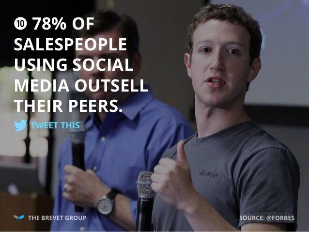 a 78% OF SALESPEOPLE USING SOCIAL MEDIA OUTSELL THEIR PEERS. TWEET THIS