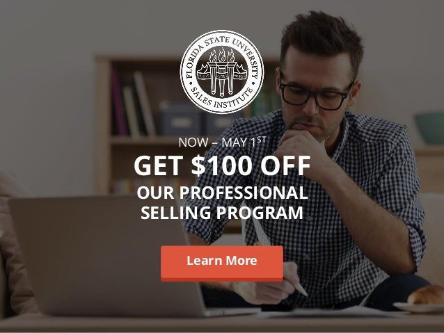 NOW – MAY 1ST GET $100 OFF OUR PROFESSIONAL SELLING PROGRAM Learn MoreLearn More
