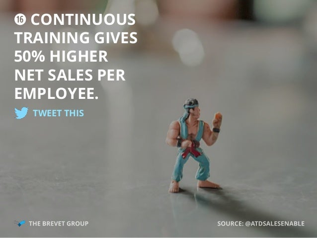 j CONTINUOUS TRAINING GIVES 50% HIGHER NET SALES PER EMPLOYEE. TWEET THIS