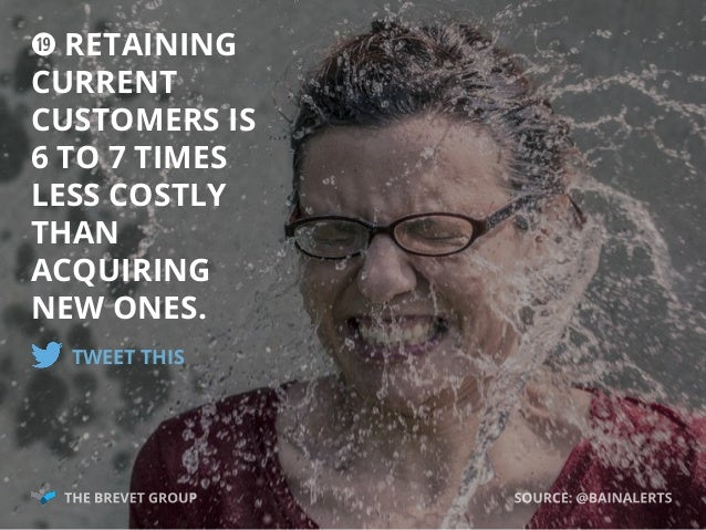 ; RETAINING CURRENT CUSTOMERS IS 6 TO 7 TIMES LESS COSTLY THAN ACQUIRING NEW ONES. TWEET THIS