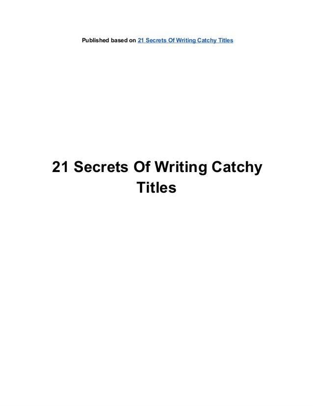white titles