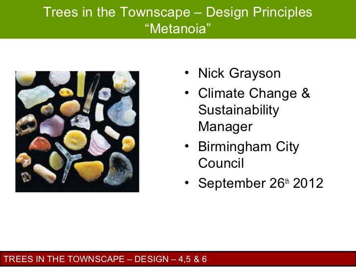 "Trees in the Townscape – Design Principles                       ""Metanoia""                                    • Nick Gray..."