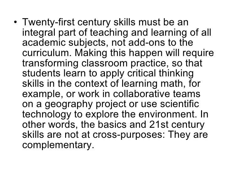 21st Century Learning Skills Webinar