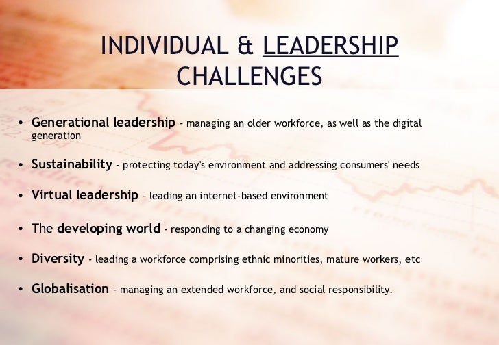 challenges of leadership in an organisation pdf
