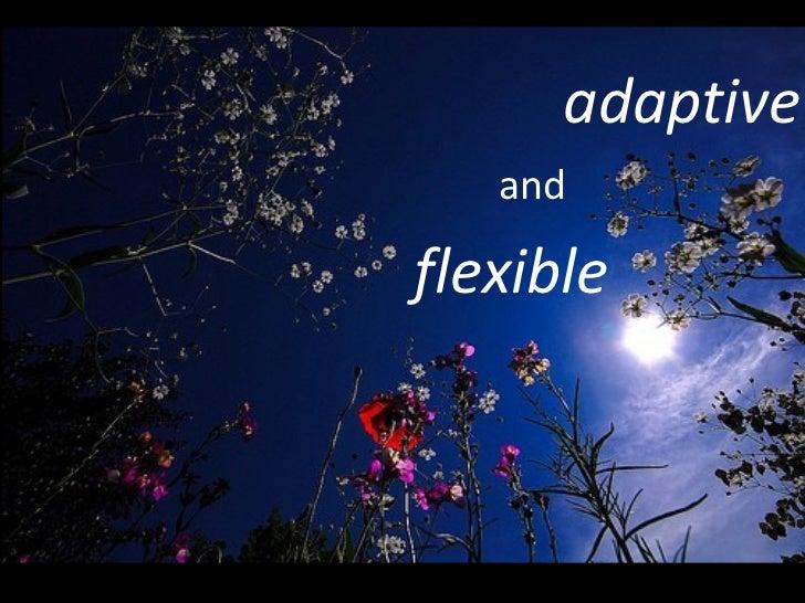 adaptive and flexible