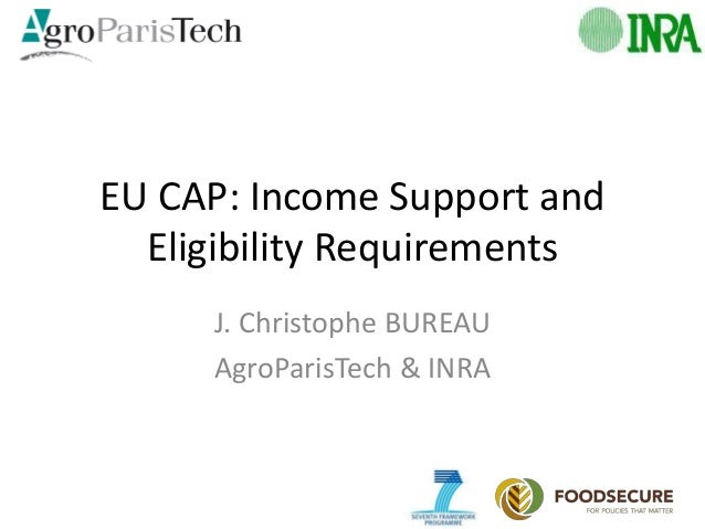 EU CAP: Income Support and Eligibility Requirements J. Christophe BUREAU AgroParisTech & INRA