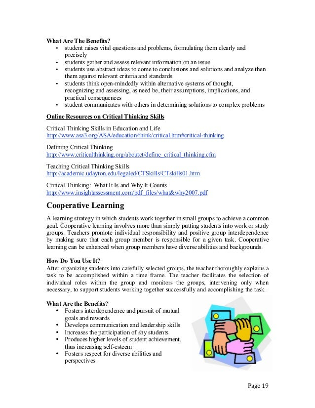 cooperative learning and critical thinking pdf