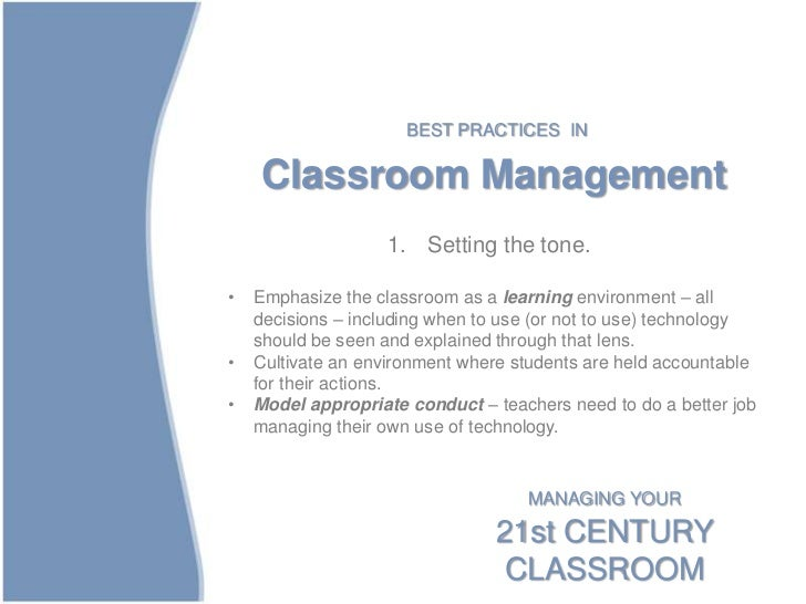 Research Design On Classroom Management : The st century classroom design management and tech