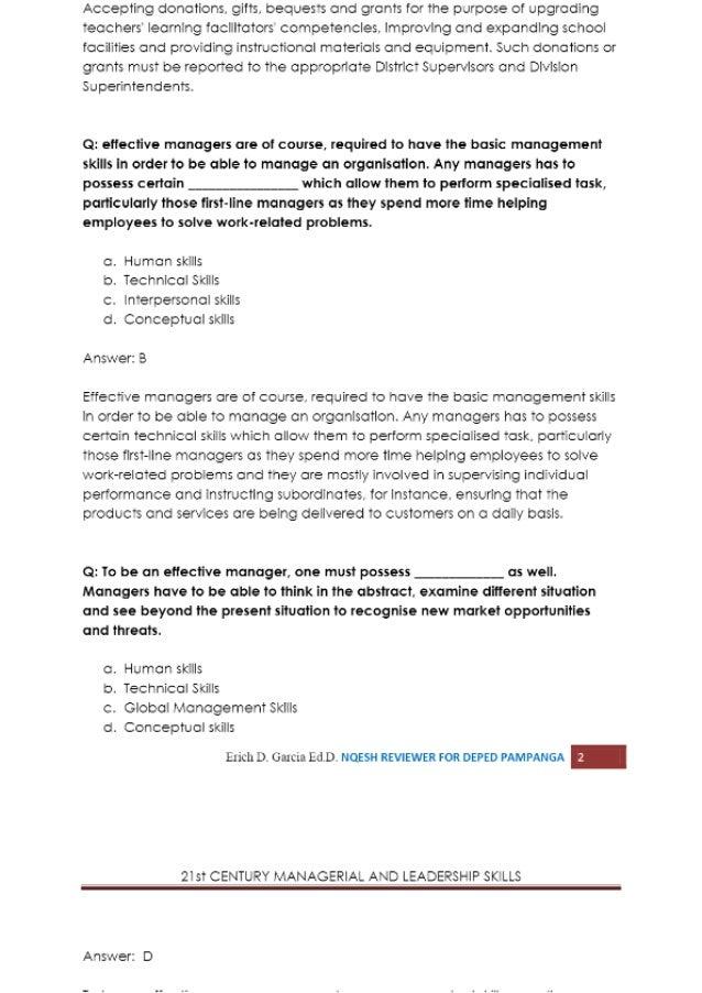 St Century Managerial And Leadership Skills Leadership Skills 2