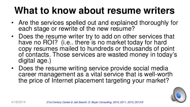 hiring resume writer