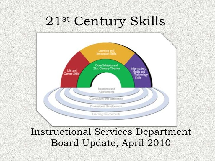 21st Century Skills<br />Instructional Services Department<br />Board Update, April 2010<br />