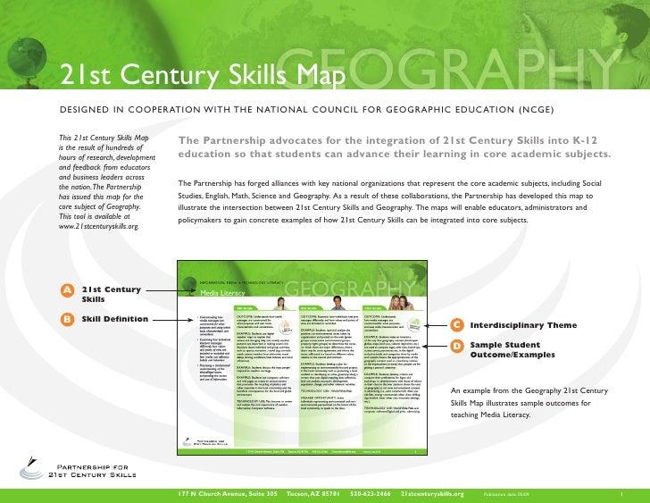 21st Century Skills Map DESIGNED IN COOPERATION W I T H T H E N AT I O N A L C O U N C I L F O R G E O G R A P H I C E D U...