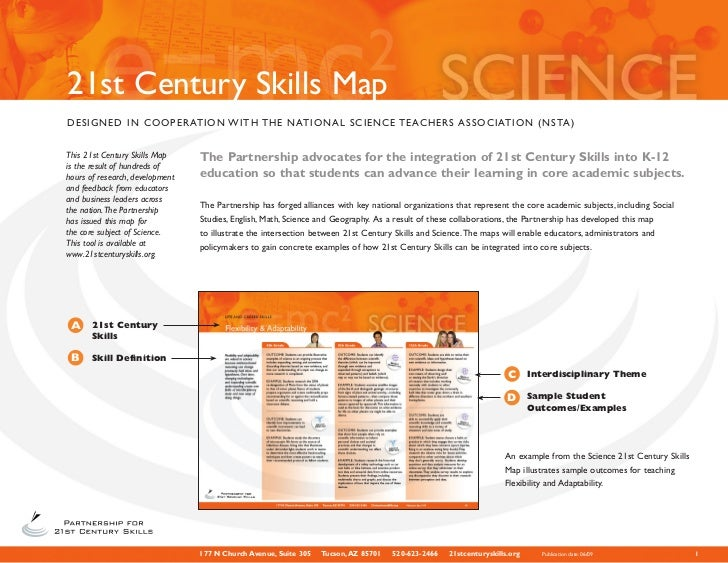21st Century Skills MapDESIGNED IN COOPERATION W I T H T H E N AT I O N A L S C I E N C E T E AC H E R S A S S O C I AT I ...