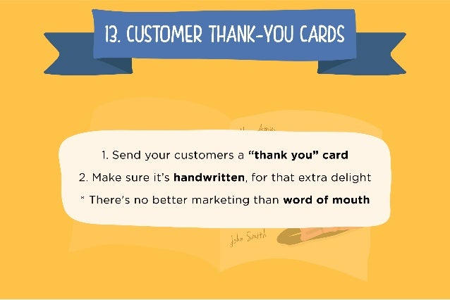 I3. CUSTOMER THANK—YOU CARDS I