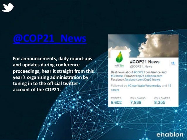 21 Twitter Accounts to Follow Ahead of COP21 Slide 2