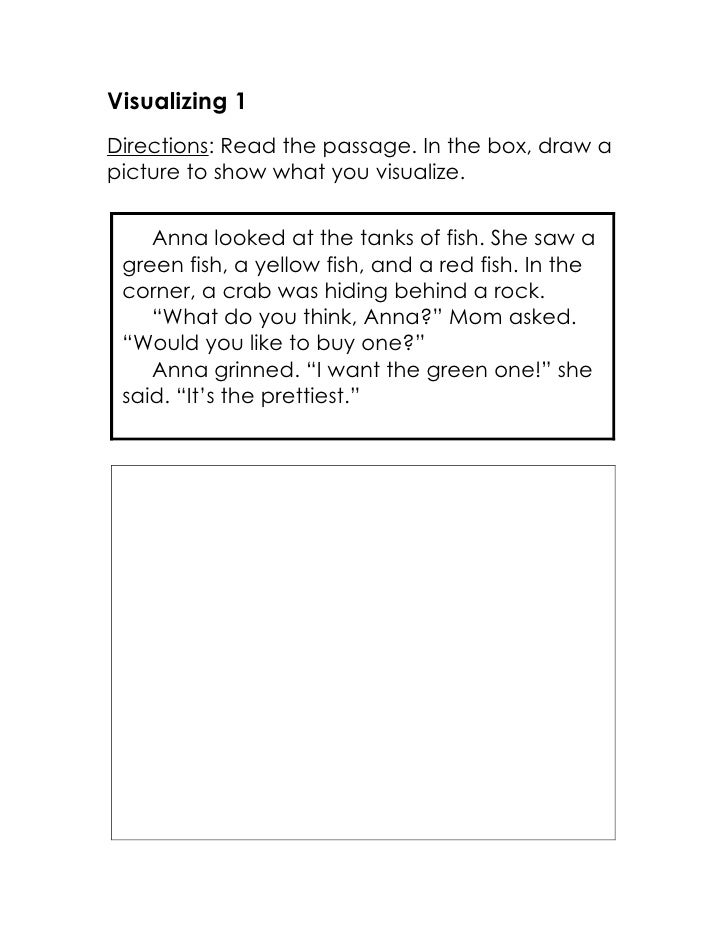 Free Worksheets third grade english worksheets : Visualizing Passages and Assessments