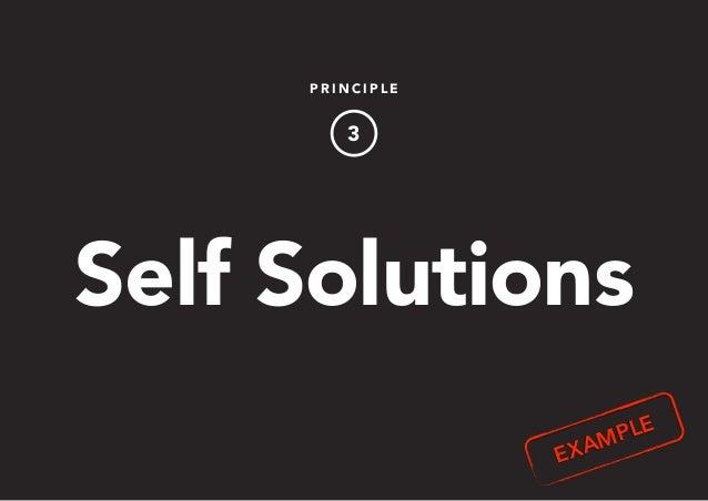 P R I N C I P L E 3 Self Solutions EXAMPLE