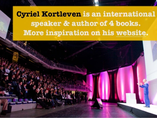 Cyriel Kortleven is an international speaker & author of 4 books. 