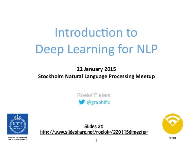 @graphific Roelof Pieters Introduc0on	   to	   