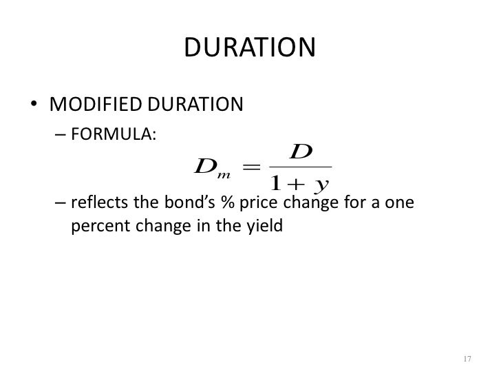 difference between duration and modified duration